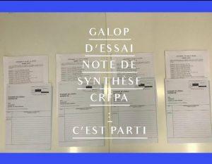 Galop d'essai, Note de synthèse CRFPA Montpellier